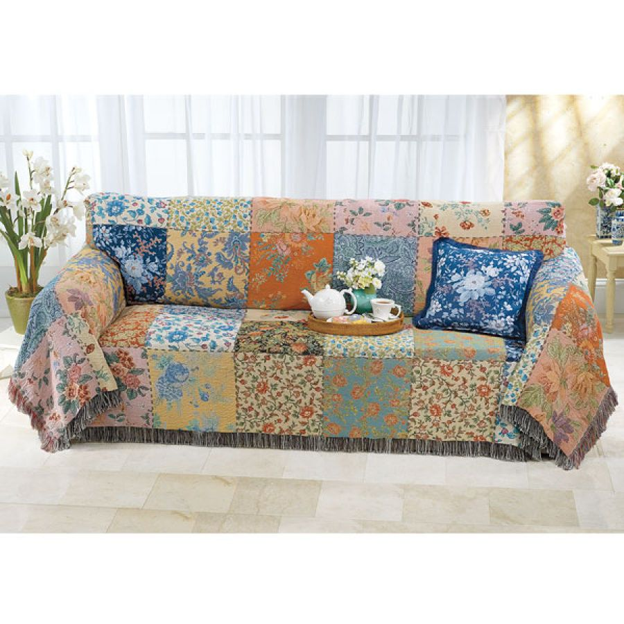 Vintage Patchwork Sofa Cover