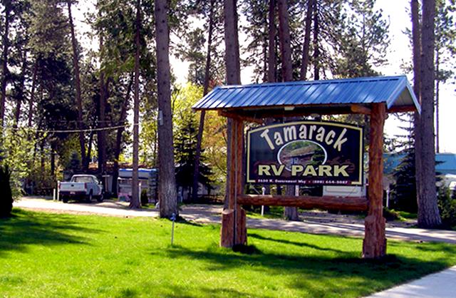 Tamarack RV Park And Campground At Coeur D Alene Idaho