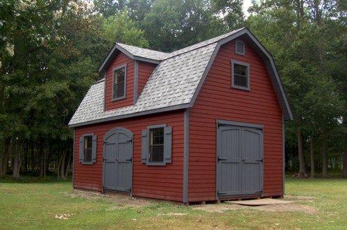 Red Barn Grey Trim In 2019 Best Roof Shingles Farmhouse