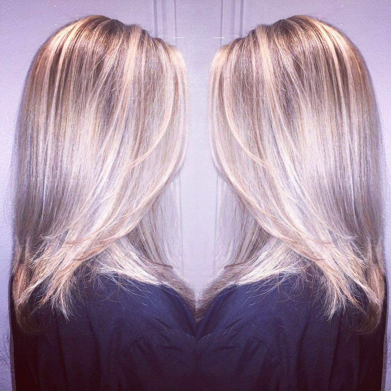 Beautiful balayage  created for my sister in may wella color ct also silver used touch equal parts  rh pinterest