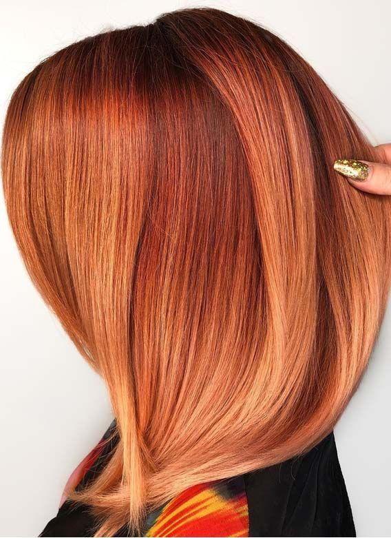 Bernsteinfarbene Haare