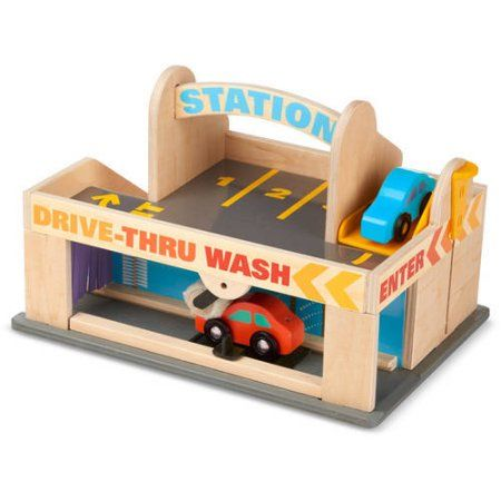 Gas Station With Drive Thru Car Wash >> Toys Wooden Car Car Wash Wooden Toys