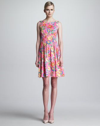 sonja floral-print dress by kate spade new york at Neiman Marcus.