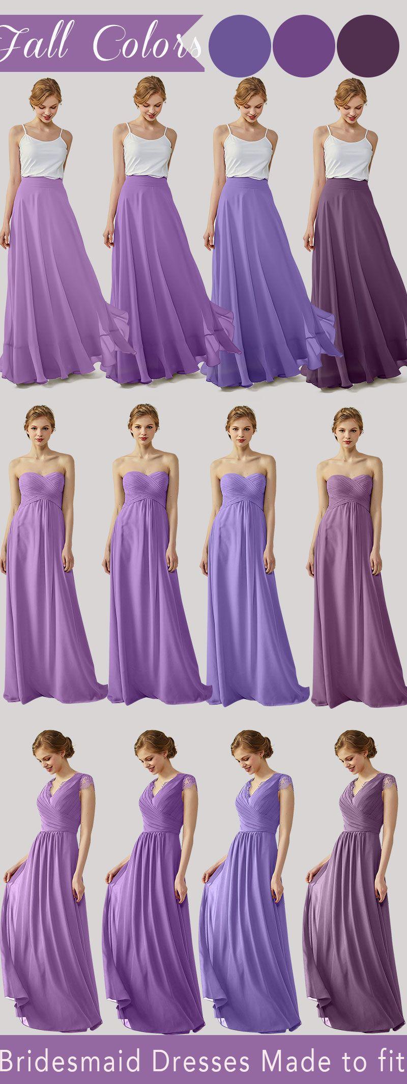 fall bridesmaid dresses ruffle skirts sweetheart chiffon