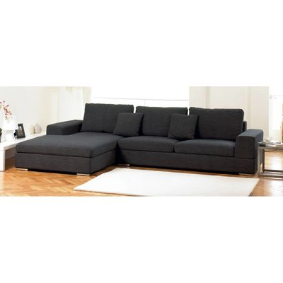 Attirant Verona Left Hand Corner Sofa Charcoal