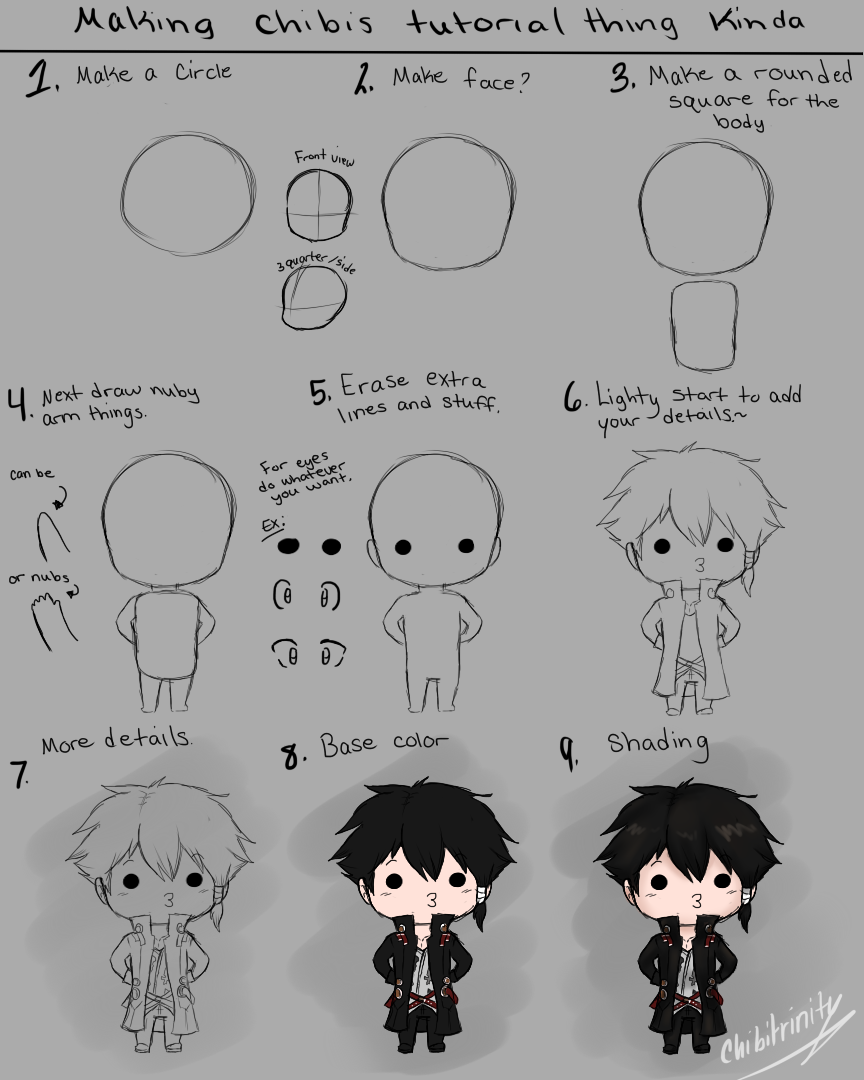 How to Draw Chibi Tutorial by