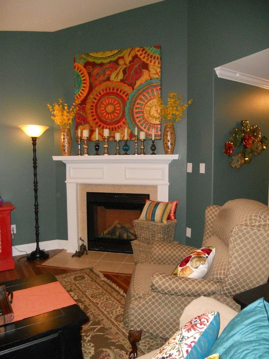 Sherwin Williams Rocky River 6215  Paint  Eclectic living room Family room colors Paint