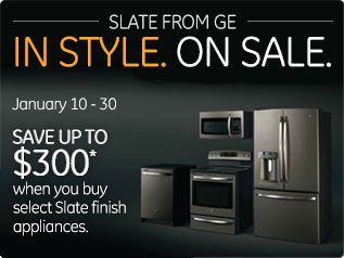1st Quarter Slate Rebate Rebates And Special Offers Ge Appliances Like The Color Slate Finish Appliances Slate Appliances