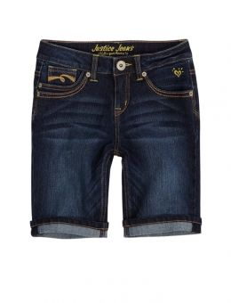 "Justice Coats for Girls | Denim Bermuda Shorts | Girls Bermuda 8"" Inseam Shorts 