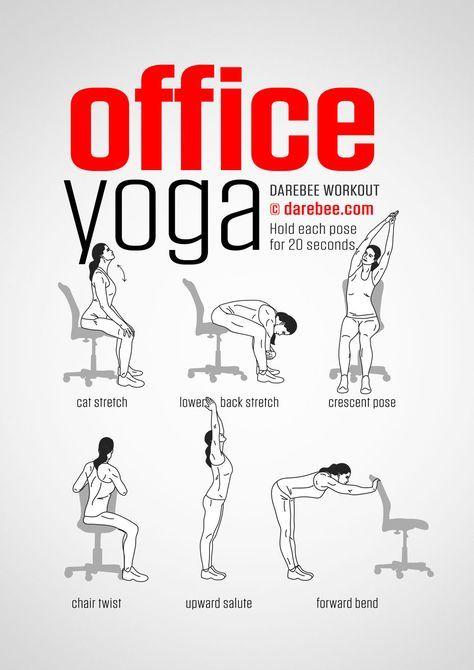 serie d exercices tres faciles 7 exercice physique yoga au bureau good shape pinterest office yoga and yoga