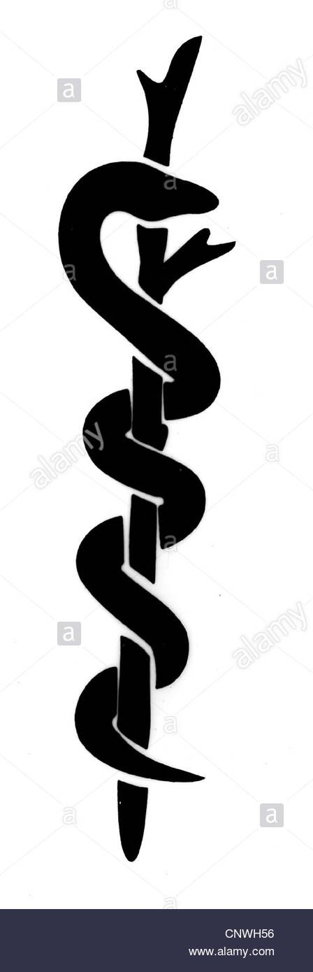 Download This Stock Image Medicine Symbols Rod Of Asclepius