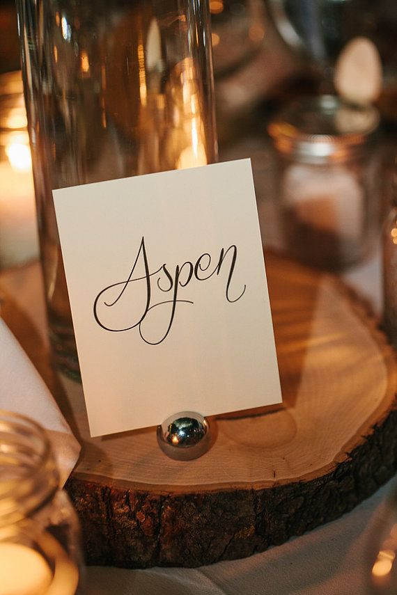 10 Unique Table Name Cards Rustic Wedding Theme By Allyspapery