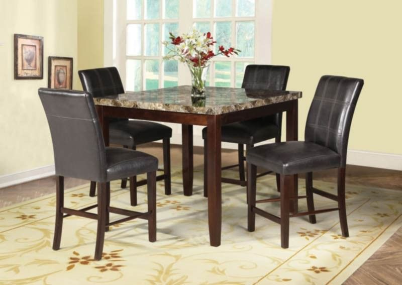 Acme Furniture Rolle 5 Piece Counter Height Dining Table Set In Espresso 71075 With Images Counter Height Dining Table Set Kitchen Table Settings Dining Room Furniture