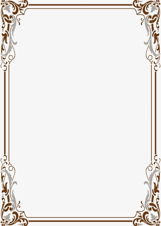 Frame Lace Vector Classical Continental Line Drawings Vector Border Ppt Border Vector Material Bor Frame Border Design Page Borders Design Floral Border Design
