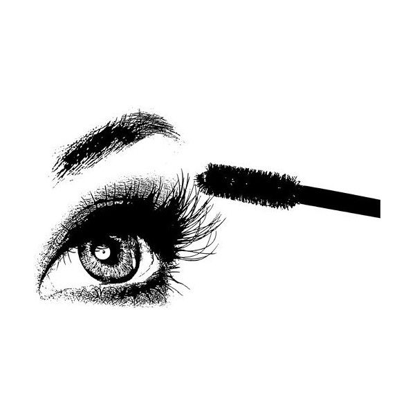 Womans Eye Lashes Mascara Brush Png File Clip Art Digital Image