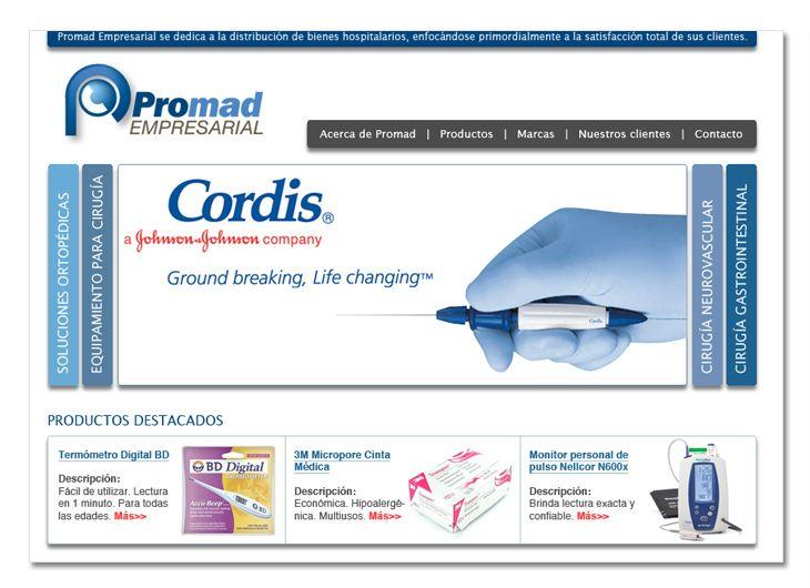 Desarrollo De Sitio Web Para Promad Empresarial Distribuidora De