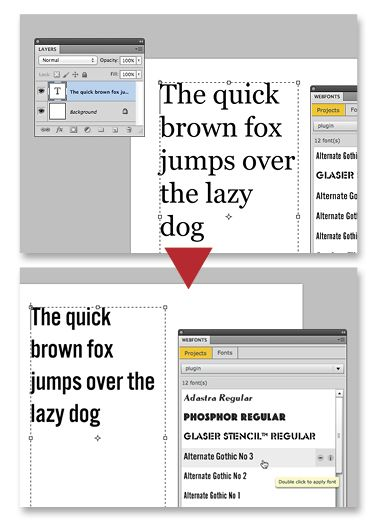 How to get downloaded fonts into photoshop