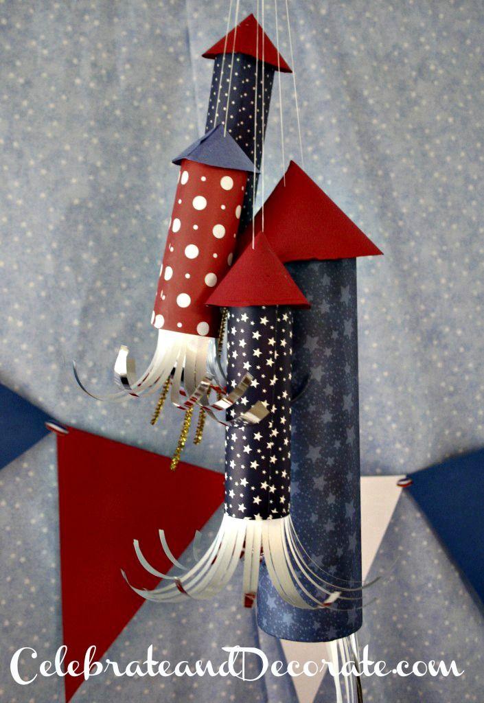 Fourth of July Rocket Crafts - Easy to make rocket ...