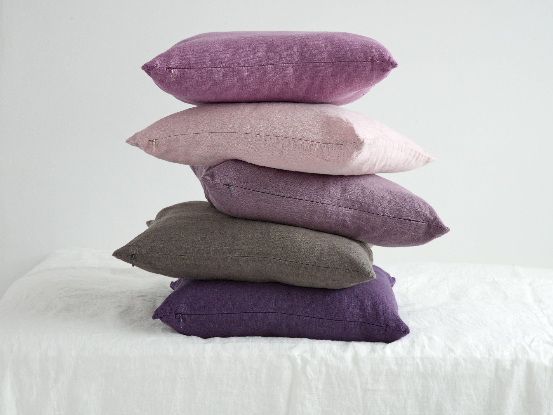 linen decorative pillow case linen