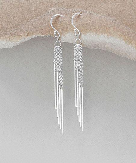 Martha Jackson Sterling Silver Cascading-Bar Drop Earrings | zulily