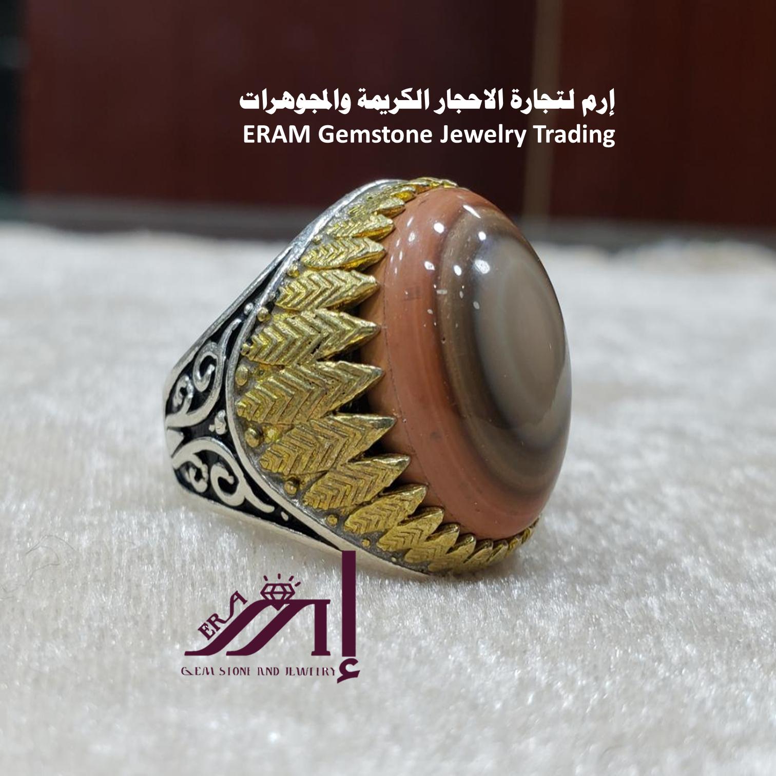 خواتم عقيق يمني سليماني راهي Agate مميز طبيعي100 للعرض Gemstone Jewelry Gemstones Rings For Men