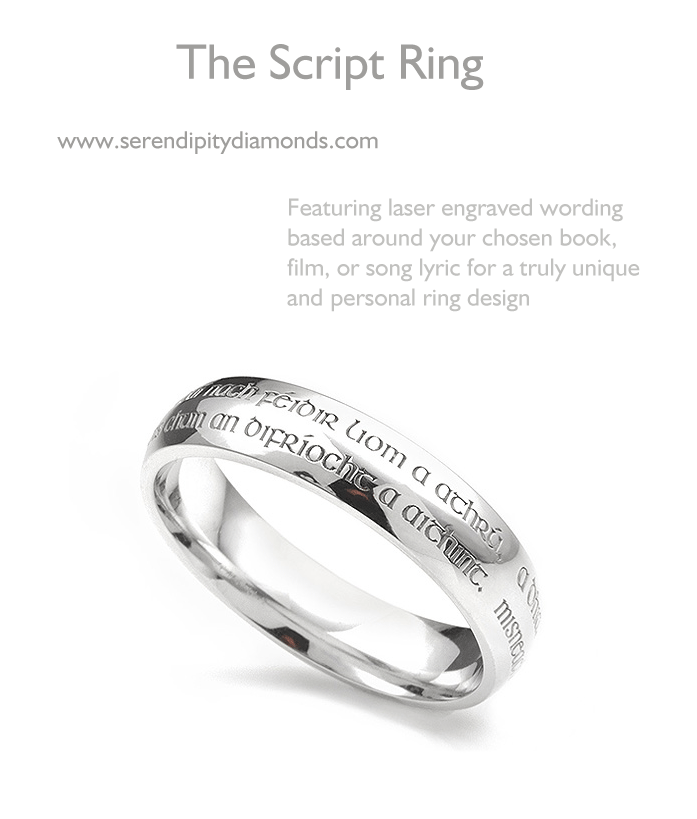 Script Rings What Does Your Engraving Say About You Serendipity