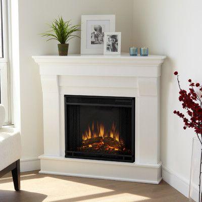 Real Flame Chateau Corner Electric Fireplace Wayfair Farmhouse