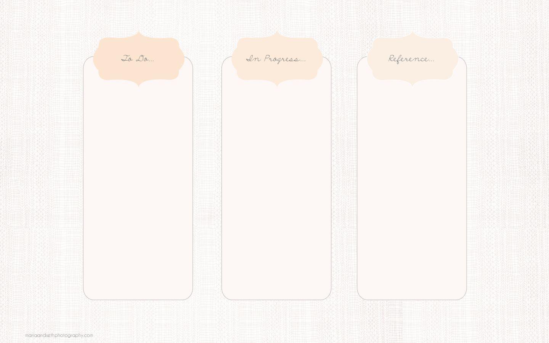 Pale blush pink minimal desktop organizer wallpaper ...
