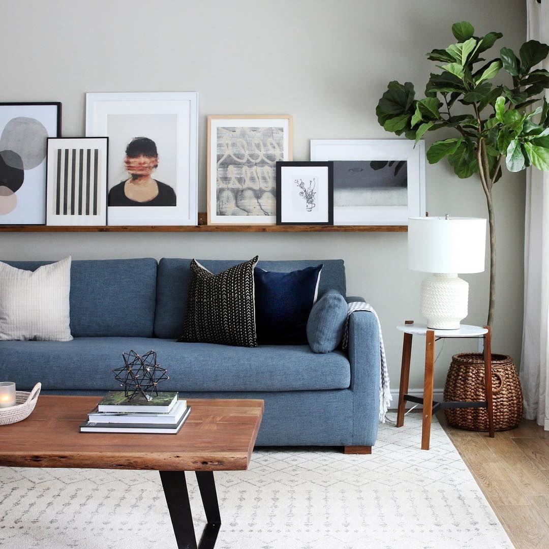 Julia Marcum Of Chris Loves Julia Domino S Design Blog Award Winner For Best Renovation Blog Gives In 2020 Blue Sofas Living Room Living Room Color Blue Living Room