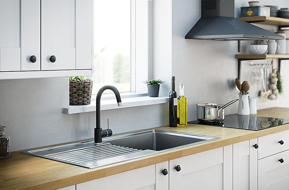 It Westleigh Ivory Style Shaker Diy At B Q Contemporary Kitchen Diy Stylish Kitchen Contemporary Kitchen Sinks