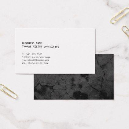 Modern minimal faux stone consultant networking business card modern minimal faux stone consultant networking business card minimal gifts style template diy unique personalize colourmoves