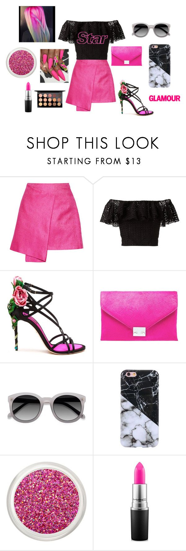 """pink today"" by sara-fumanti ❤ liked on Polyvore featuring Maiyet, Philosophy di Lorenzo Serafini, Dolce&Gabbana, Loeffler Randall, Ace and MAC Cosmetics"