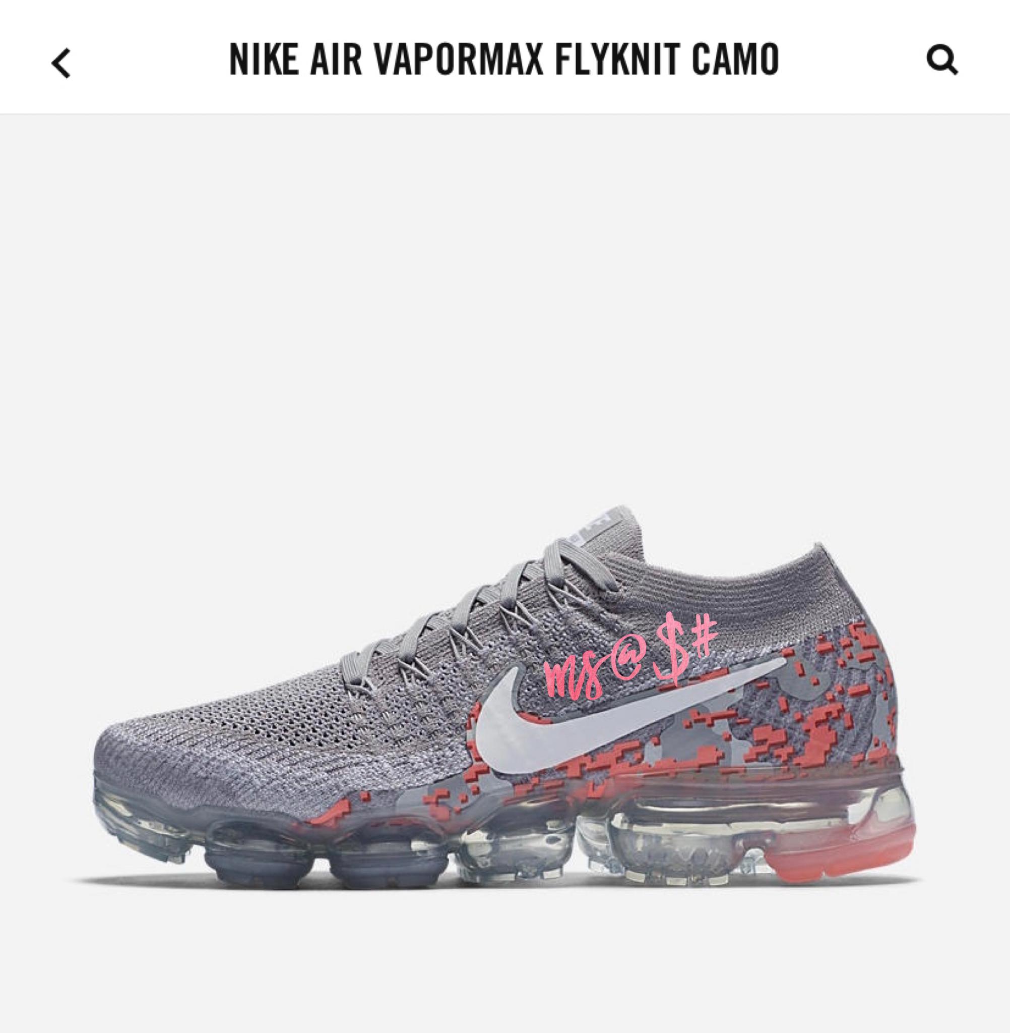 variable Gárgaras perdonar  Nike vapor max fly knit camo | Womens sneakers, Nike air max, Nike air  vapormax