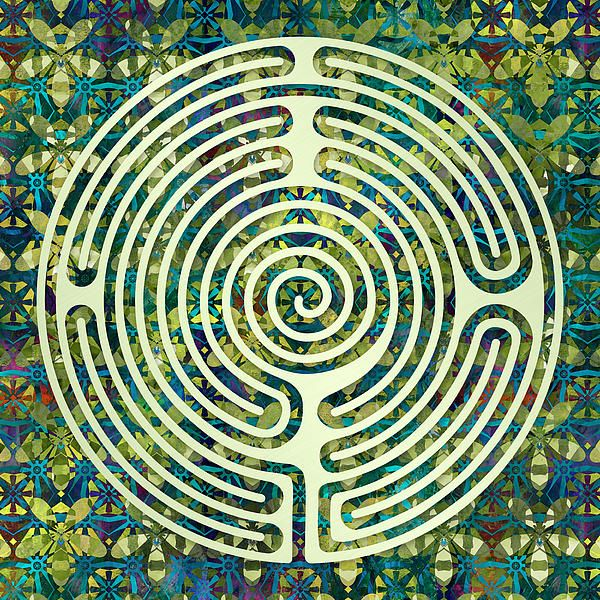 Labyrinth Art - A design patterned after the Shepherd's Race turf labyrinth
