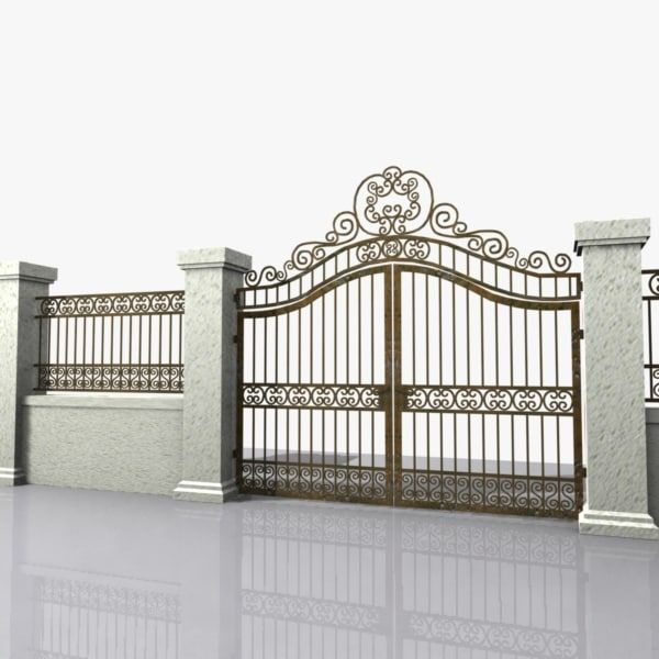 3d Wrought Iron Gate Model Iron Gate Design Wrought Iron Gate Designs Front Gate Design