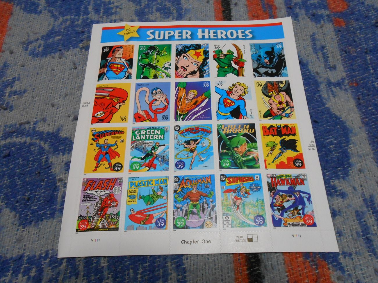 Super Heroes Stamps - $8 #burresscollectables