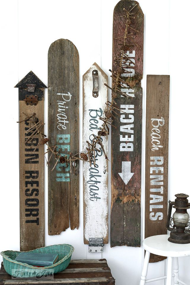Make Your Own Rustic Beach Lake And Bed Breakfast Signs Old