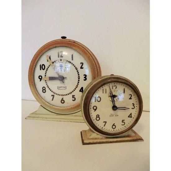 Antique Decorative Wind Up Alarm Clocks #huntersalley