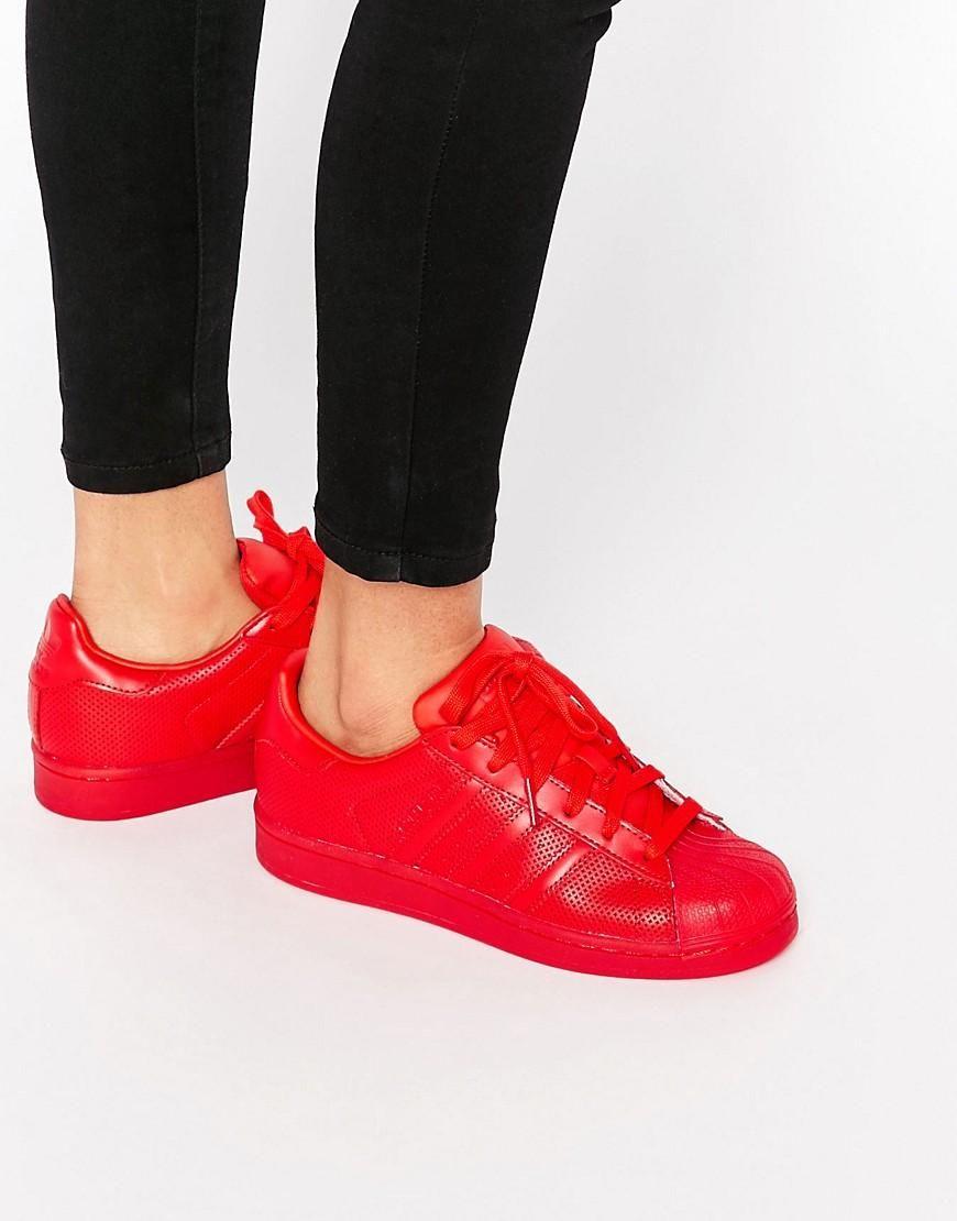 online store 72586 2754b Adidas   Zapatillas rojo escarlata Superstar Super Colour de Adidas  Originals en ASOS