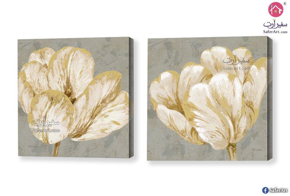 تابلوهات ورود ذهبي سفير ارت للديكور Frames On Wall Rose Wall Golden Rose
