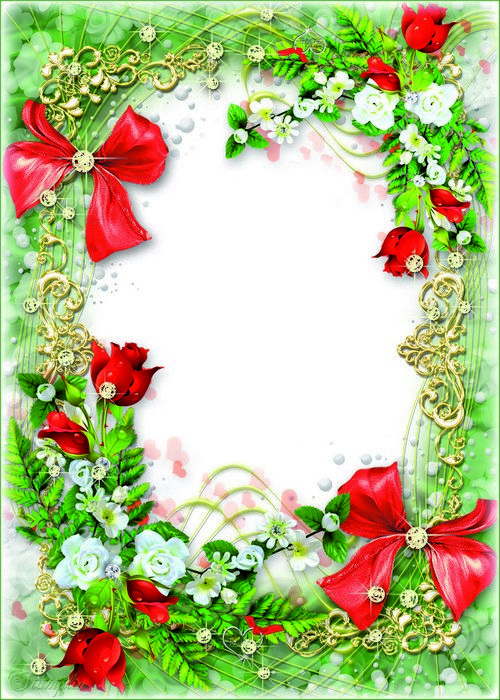 Flower Frame Psd Template For Your Photos Bloomed A Sea Of Red Roses Flower Frame Rose Frame Flower Photos