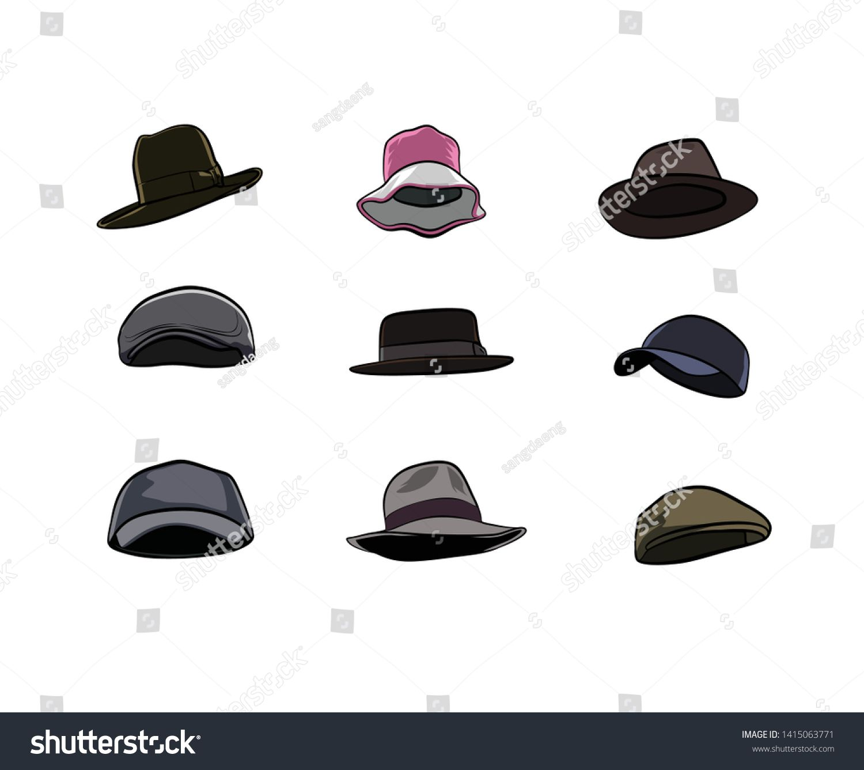 Various Illustration Hat Vectors Celebrities Sponsored Affiliate Hat Illustration Celebrities Vectors Hat Vector Vector Character Graphic Illustration