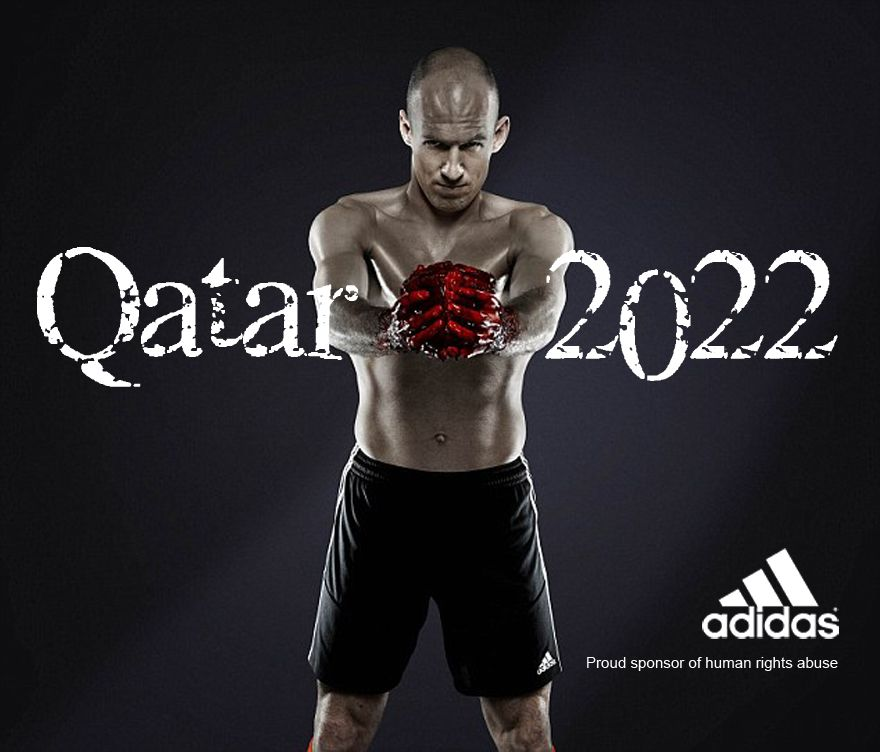People Make Anti Logos To Urge Sponsors To Withdraw From Qatar 2022 World Cup 2022 Fifa World Cup World Cup Logo World Cup
