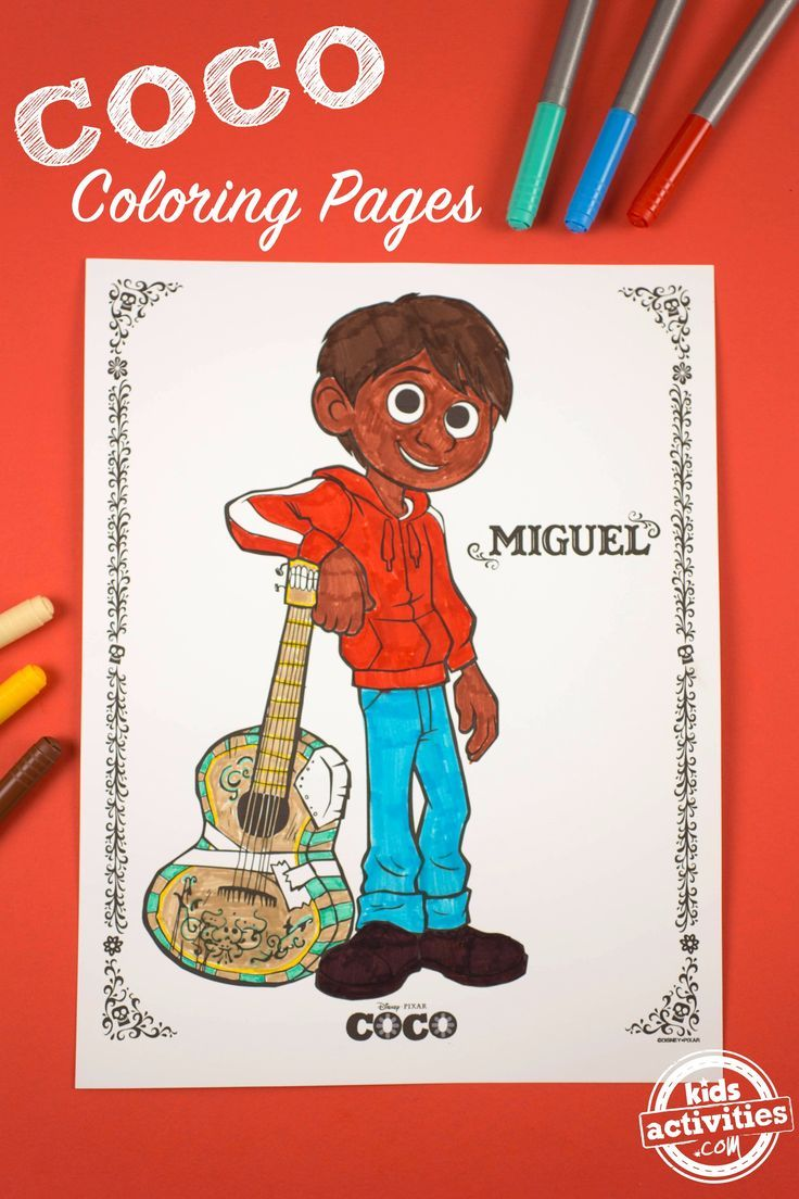 COCO Coloring Pages - Kids Activities | Free Printables | Pinterest ...
