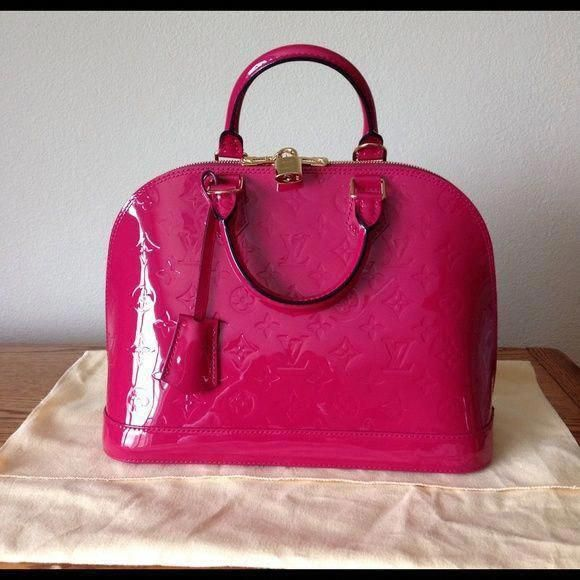 e942d8fa5b00 Louis Vuitton Alma Vernis Indian rose pink PM Bought last year. Authentic.  Used twice