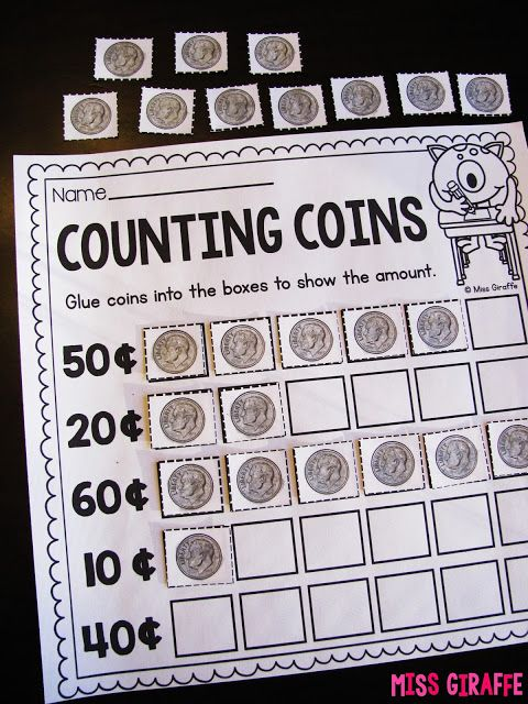 Money Counting Comparing Building Blocks