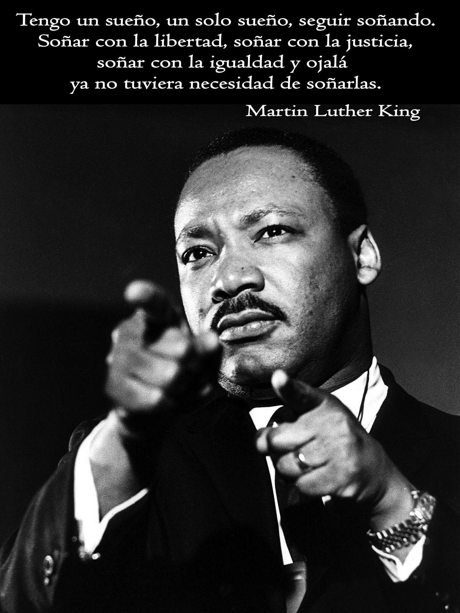 Tengo un sueño, un solo sueño, seguir soñando. Soñar con la libertad ...
