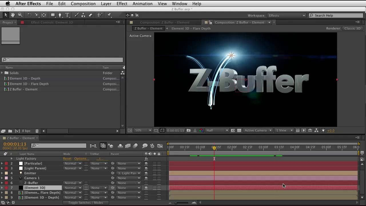 Red Giant QuickTip #78: Using Trapcode Particular Z-Buffer