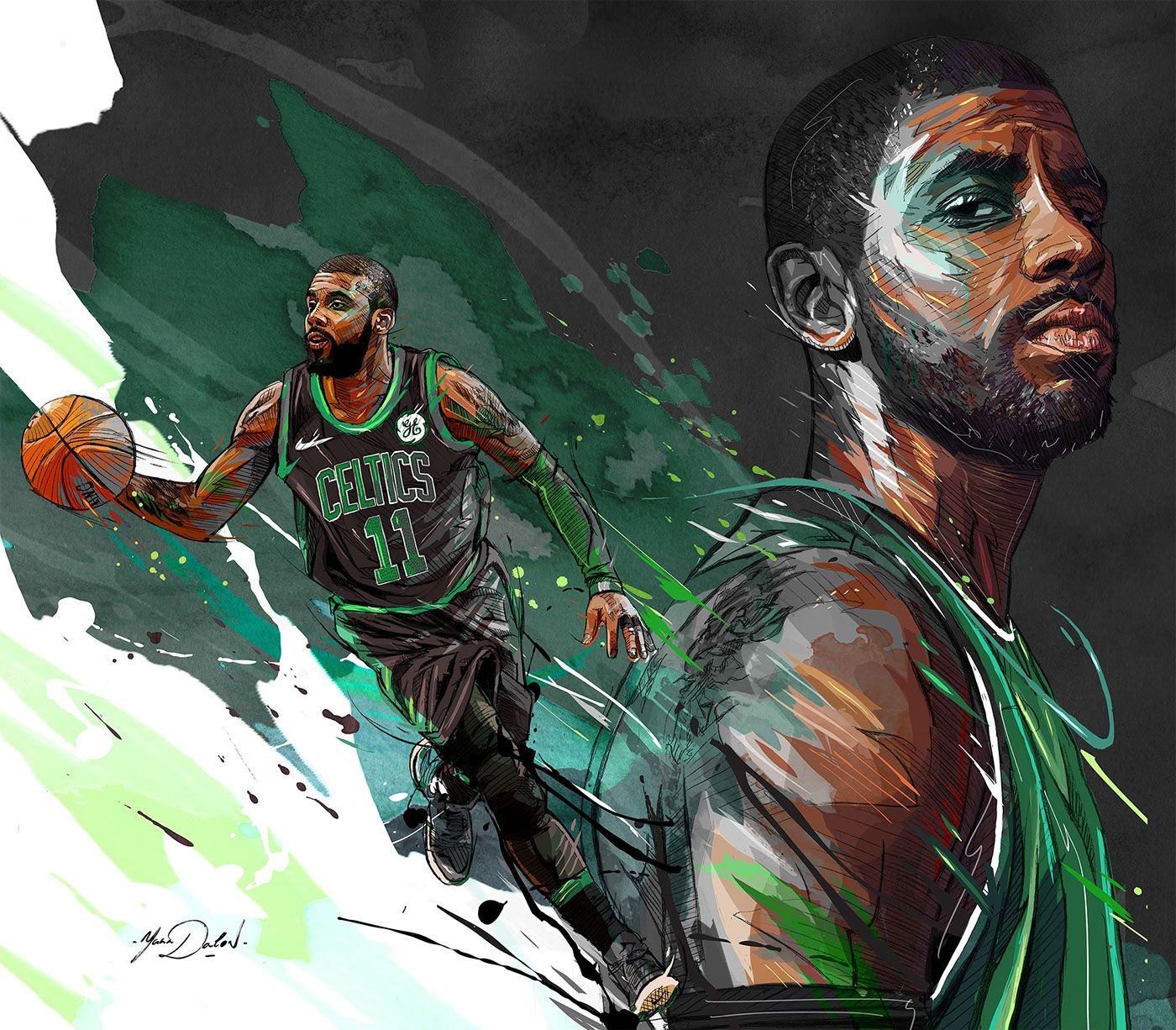 My painting of the famous player of the Boston Celtics