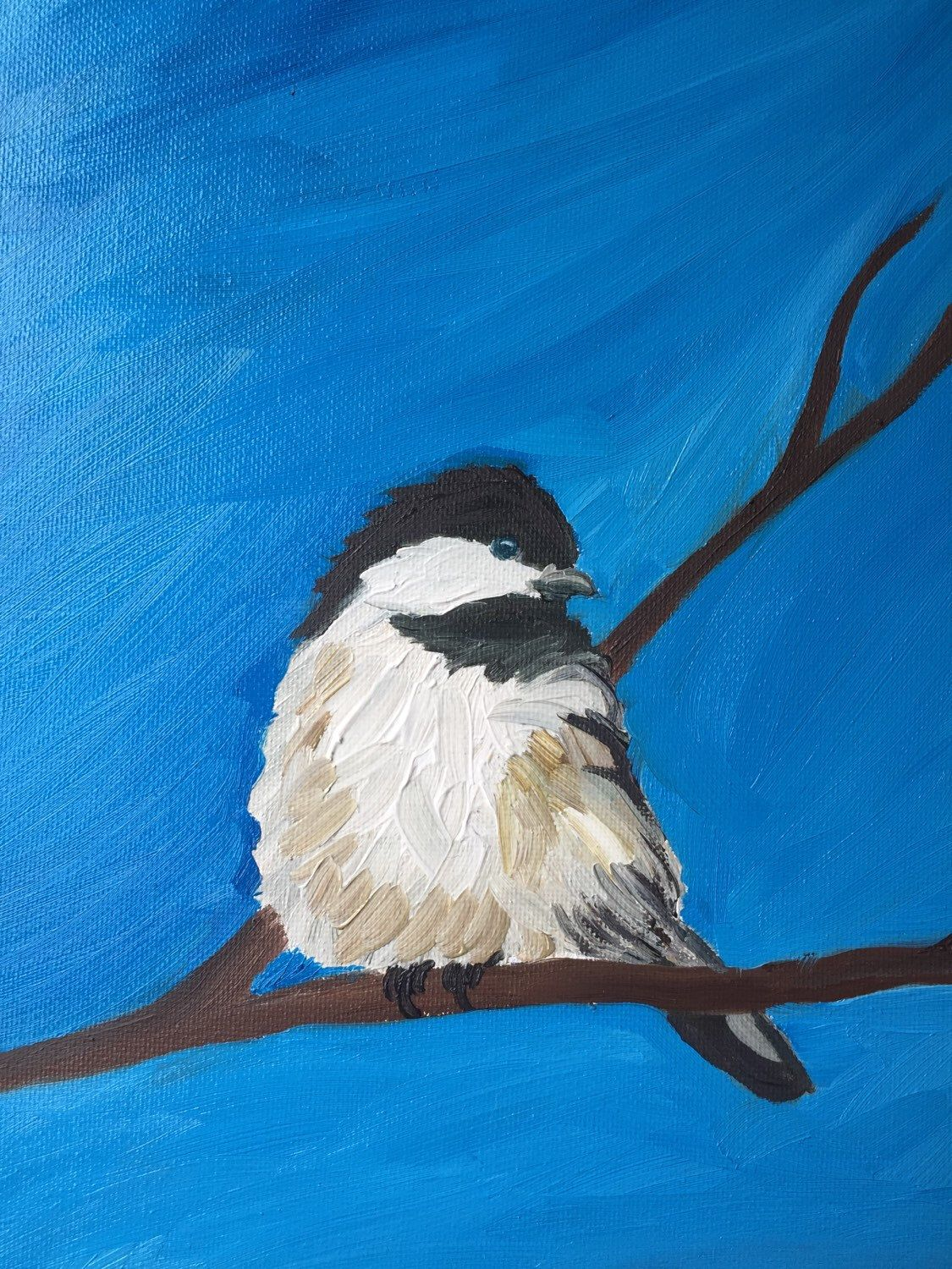 A personal favorite from my Etsy shop https://www.etsy.com/listing/242019494/oil-painted-chickadee